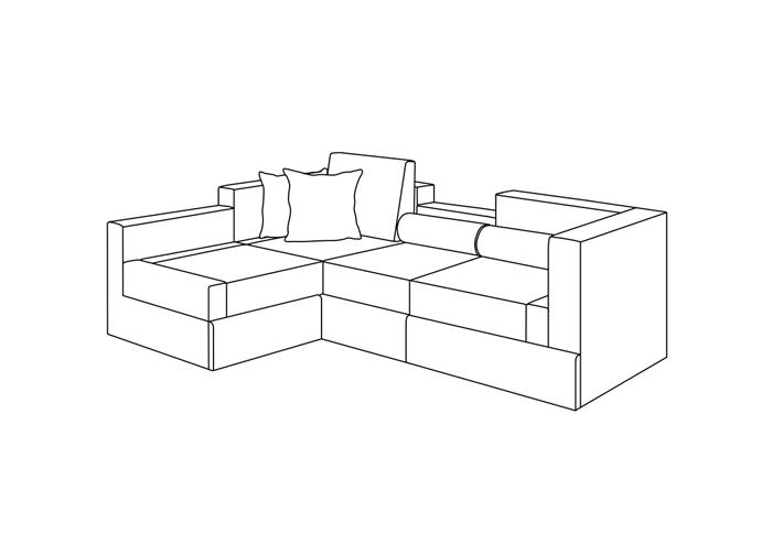 沙发平面简笔画